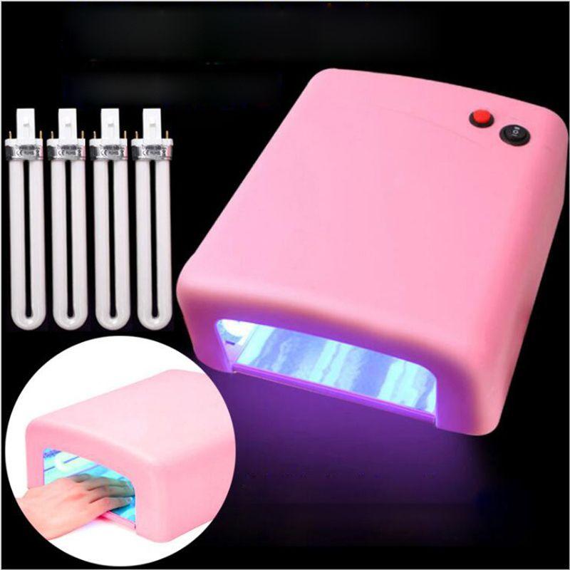 36W UV Lamp 110V-220V EU/US Plug Nail Lamp Professional Gel Nail ...