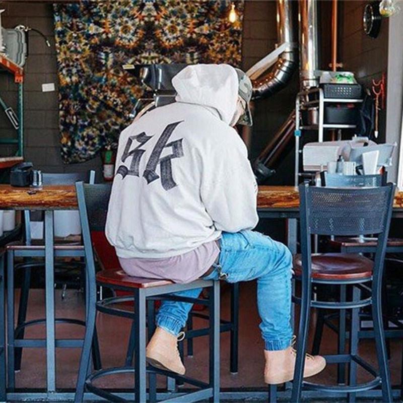 Новая мода Страх Божий Hoodie Beige Цель тура Толстовка Gorilla Wear Hiphop Толстовка скейтборд Wes высокого качества Tracksuit мужчин