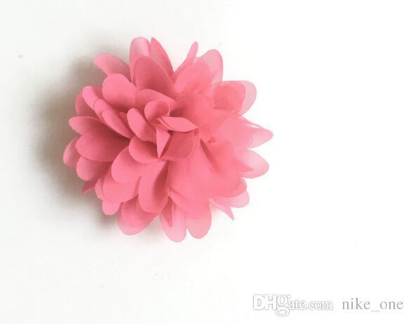 DIY 꽃 액세서리 4 인치시 폰 꽃 DIY 원단 머리 장식 꽃 소녀의 헤어 액세서리 수제 꽃 머리띠 DHL 무료