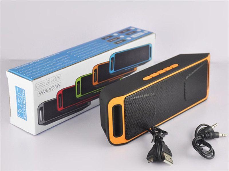 Free DHL SC-208 Mini Portable A2DP Bluetooth Speaker Wireless Megabass Stereo Car Handsfree Call Subwoofer TF USB FM Radio Music MP3 Player
