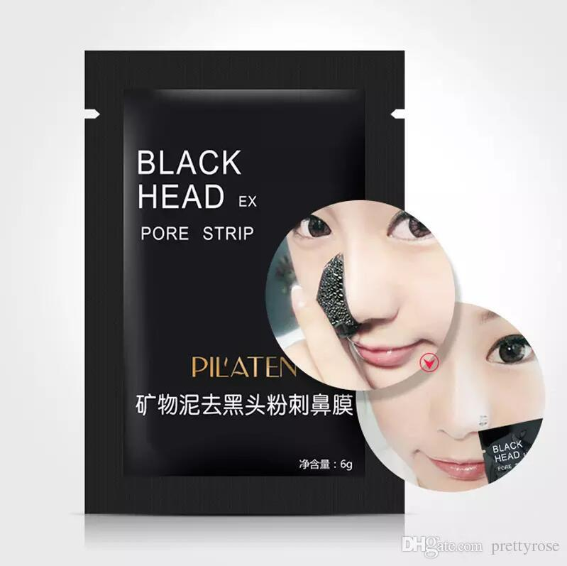 PILATEN Suction Black Mask Face Care Mask Deep Cleaning Tearing Style Pore Strip Deep Cleansing Nose Acne Blackhead Facial Mask