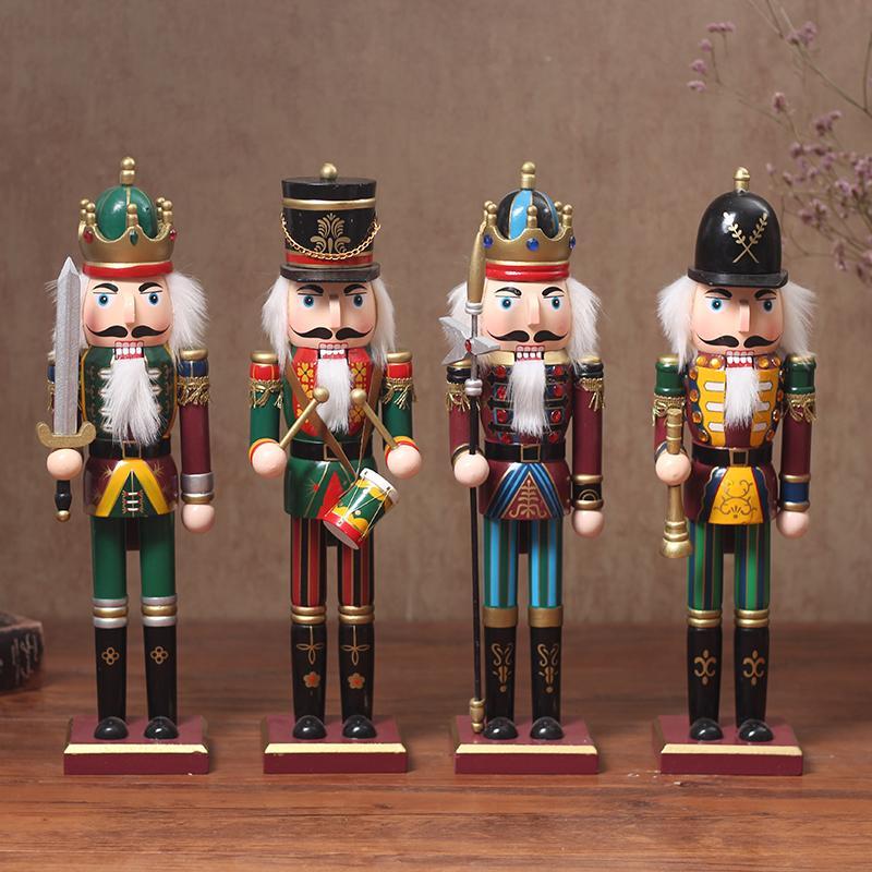 Großhandel 4 Teile / Satz 30 Cm Holz Nussknacker Puppe Soldat ...