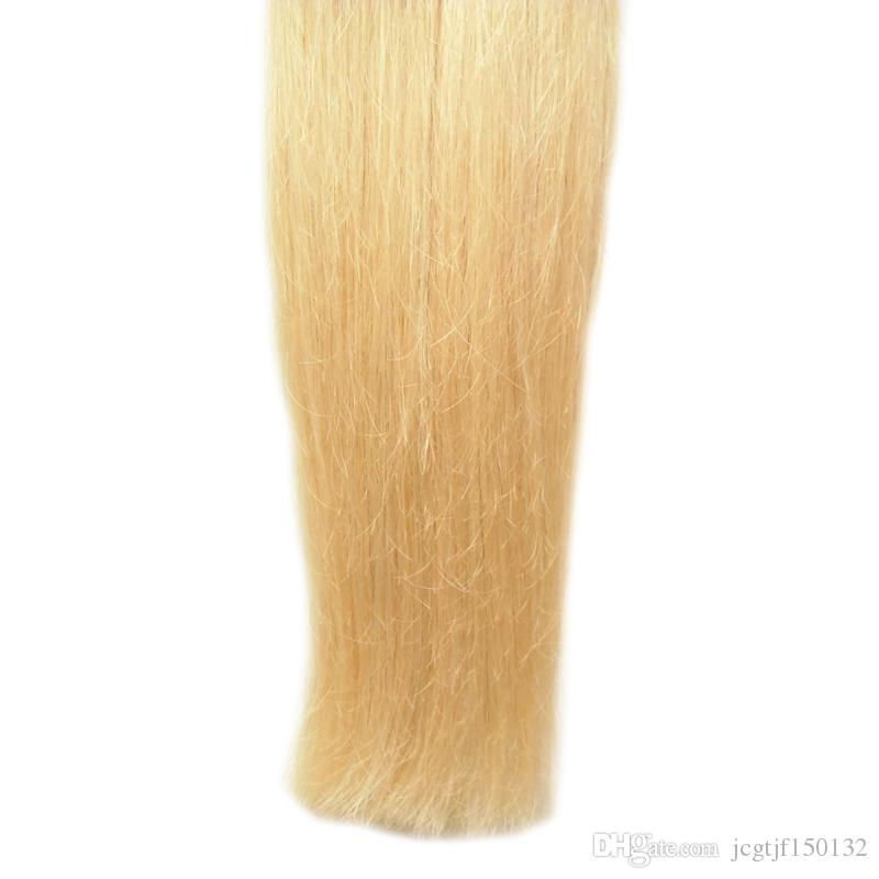 # 613 표백제 금발 머리카락 처녀 머리카락 확장 각질 머리카락 확장 100g / strands u 머리카락 확장 인간
