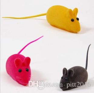 NEW Little Mouse Toy Noise Sound Squeak Rat Playing Gift For Kitten Cat Play 6*3*2.5cm DHL KLQ0041