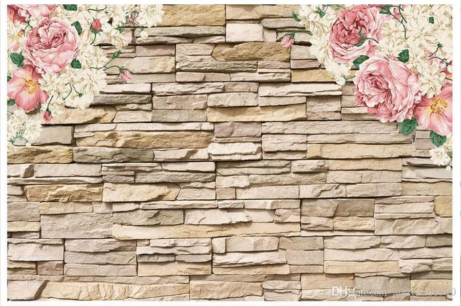 3d Photo Wallpaper Custom Size 3d Wall Murals Hand Painted Peony Stone Wall  Home Decoration Mural Wall 3d Mural Wallpaper Free Desktop Wallpaper  Downloads ...