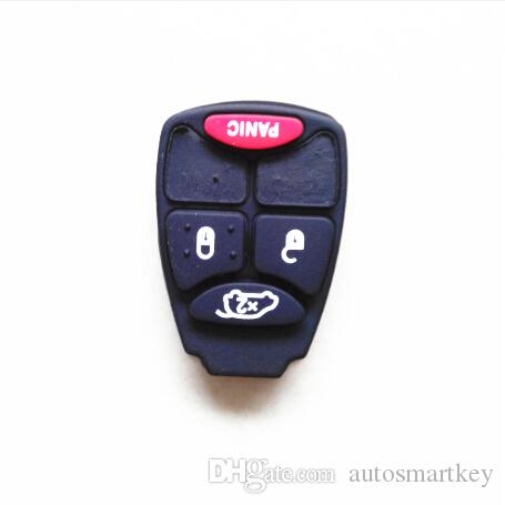 Bouton de remplacement de clé de voiture pour chrysler 300 3 + 1 bouton de clavier à distance en caoutchouc