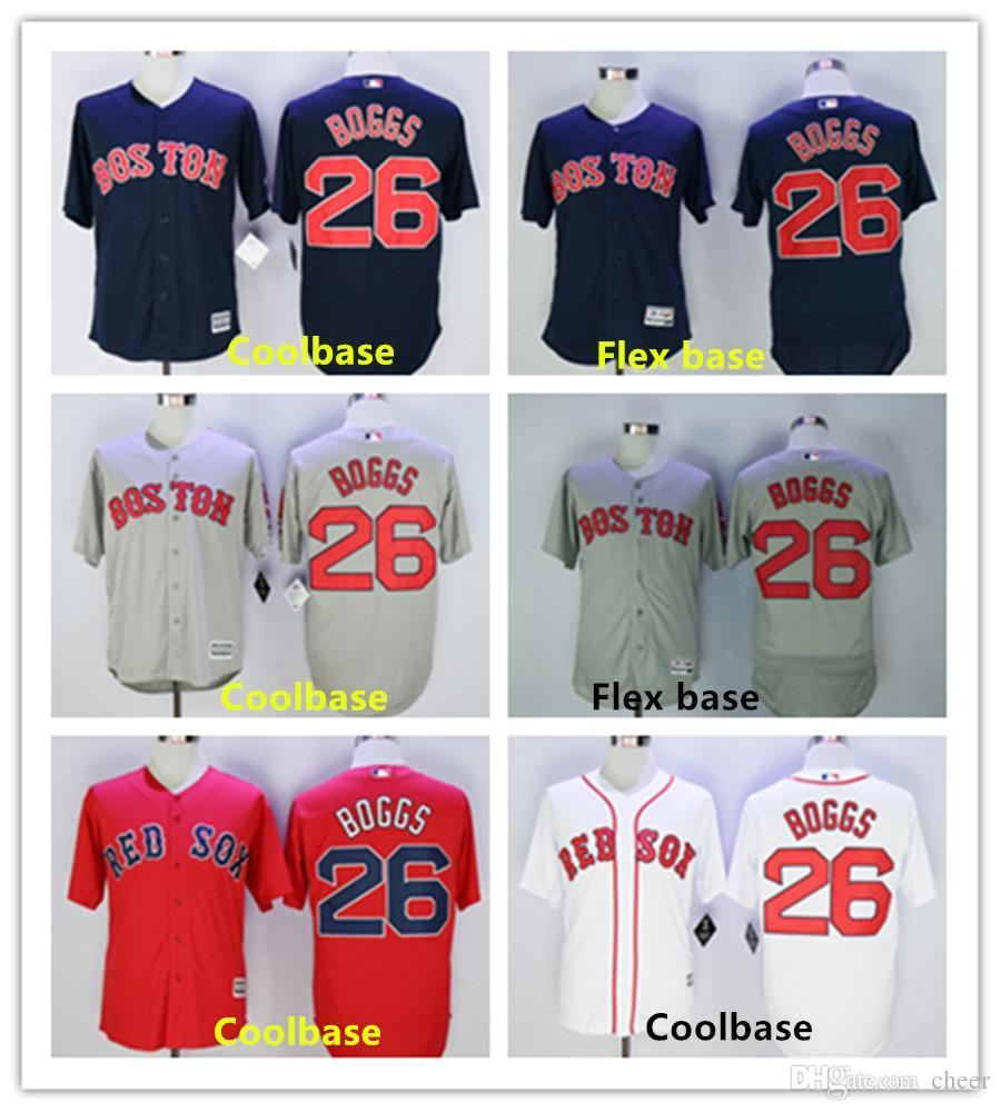 watch 75372 faf63 mens boston red sox 26 wade boggs white new cool base jersey