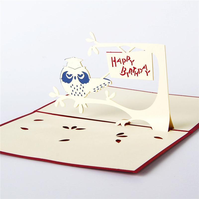 Wholesale Creative Paper Art 3d Stereoscopic Hollow Small Birthday ...