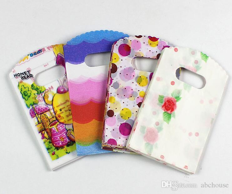 Новые / серия 12 цветов 15X9cm сердца и девушки Patterns пластиковые ювелирные изделия мешок подарка ювелирных изделий мешочков мешки Бесплатная доставка