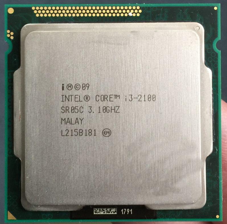 I3-2100 Original for Intel Core i3 2100 Processor 3.1GHz 3MB Cache Dual Core Socket 1155 Qual Core Desktop I3-2100 CPU