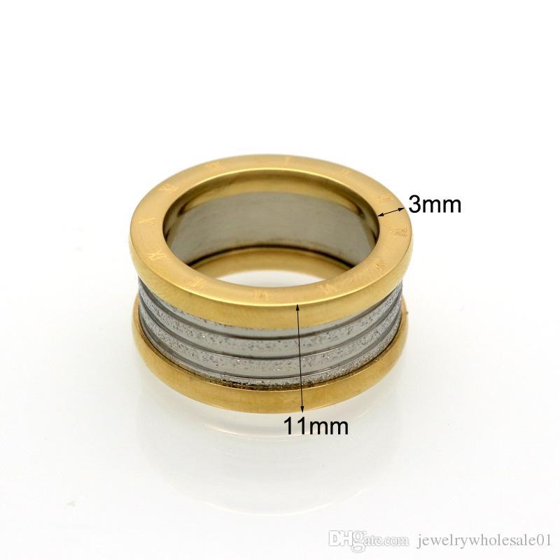 유럽에서 ClimaCool 로마 디지털 타이어 림 링 다이아몬드 커플 링 진공 도금 티타늄 쥬얼리 팬