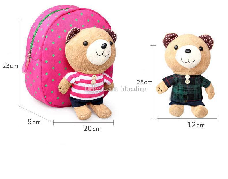 아기 안전을위한 봉제 동물 배낭 반대로 분실 된 배낭 만화는 1-3T 아이를위한 곰 부대 4 작풍 C3145