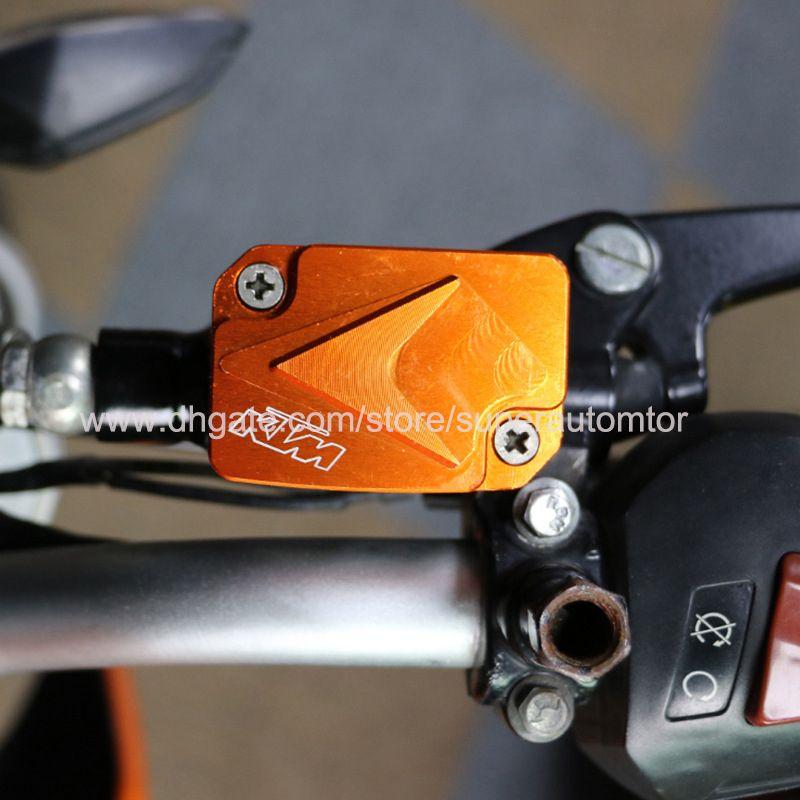 Orange Motorcycle Front CNC Aluminum Front Brake Master Cylinder Reservoir  Cap For KTM Duke125 200 390