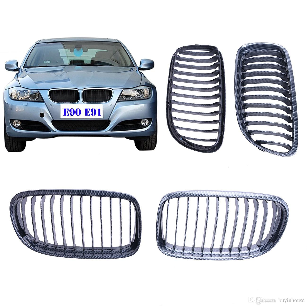 2019 For Bmw E90 Lci 2009 2010 2011 Carbon Fiber Look Front Grill