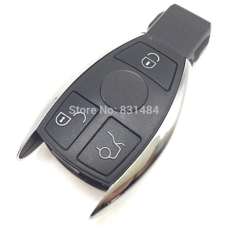 New style remote car key case shell for Mercedes benz 3 buttons smart key  case cover fob selling logo included