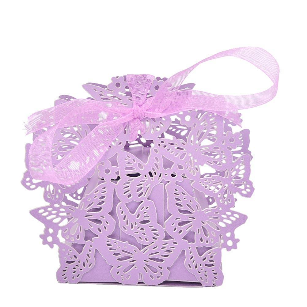 Event Party Supplies Wedding Party Favor Paper Bag Butterfly Ribbon ...