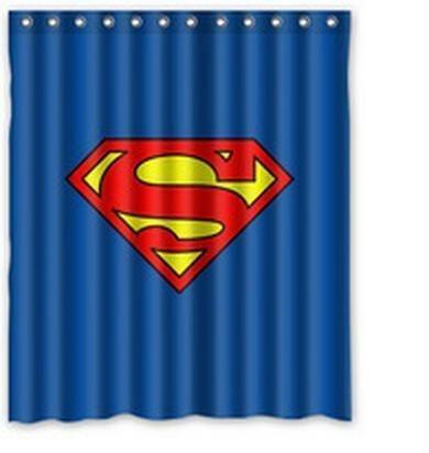 Comic Hero Superman Waterproof Custom Shower Curtain 60x72 Inch