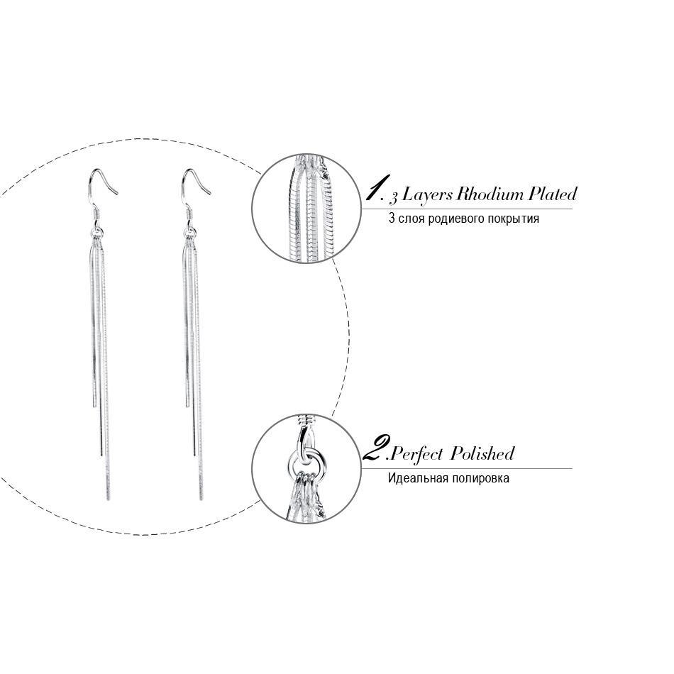 JOYAS ORSA Recién Llegado Largo Pendiente de Color Borla Colgante de Plata para Las Mujeres Joyería de La Venta Caliente de Plomo de Níquel Pendientes Libres OE88