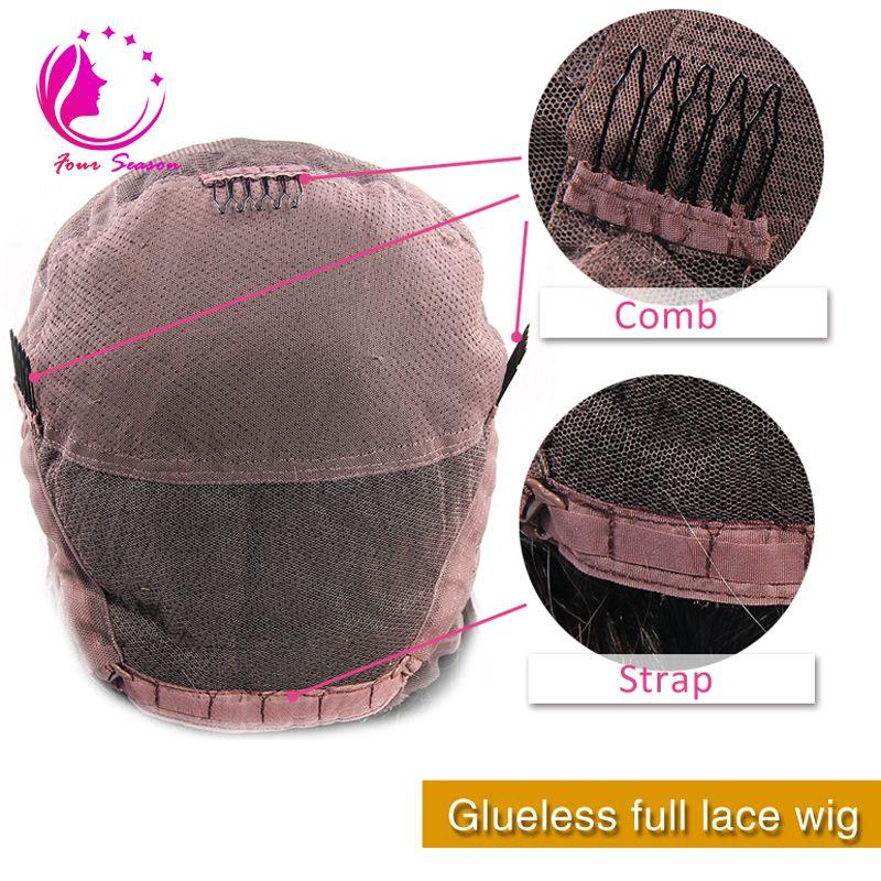 Bakire Brezilyalı Insan Saçı Tam Dantel Peruk Bebek Saç Ile En Kaliteli Uzun Kıvırcık Tutkalsız saç Peruk Ağartılmış Knot Ile Ağır Yoğunluk