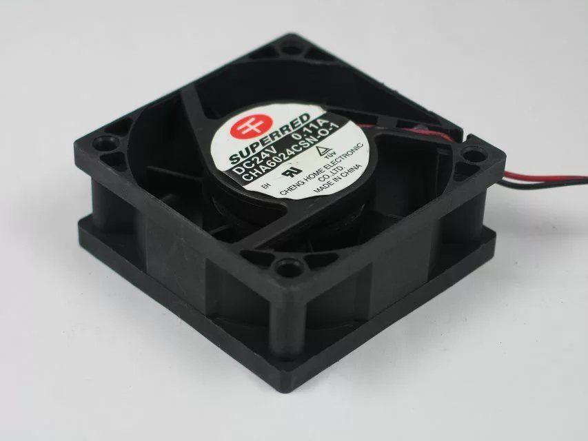 SUPERED CHA6024CSN-O-1 DC 12V 0.11A 2 선식 2 핀 커넥터 80mm 60x60x25mm 서버 스퀘어 냉각 팬