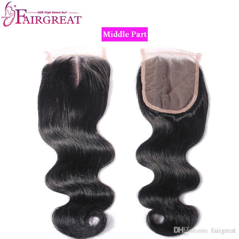Brasilianisches Haar für brasilianische Haare mit Bündelung 3Bundles Brasilianische Jungfrau-Haarverlängerungen mit Verschluss Brasilianisches Menschenhaar mit Schnürung