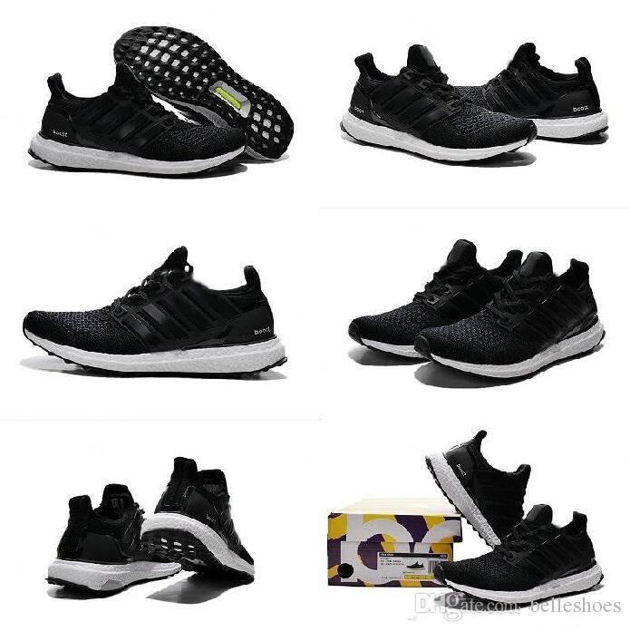 1a85a7b9c New Ultra Boost Shoes Triple White Black Running Shoes Ultraboost Women Men  Runner Shoes Sports Trainers Ultra Boosts Sneakers Size 36 45 Kids Athletic  ...