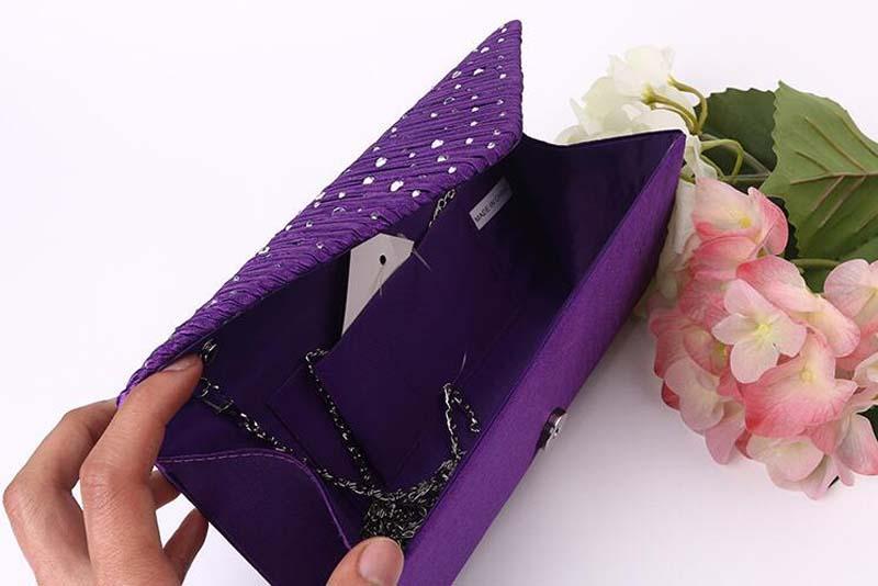 50 adet 2017 Diomand Akşam çantalar Kadınlar Saten Uzun Çile Debriyaj Çantalar Basit Kozmetik Çantası düğün