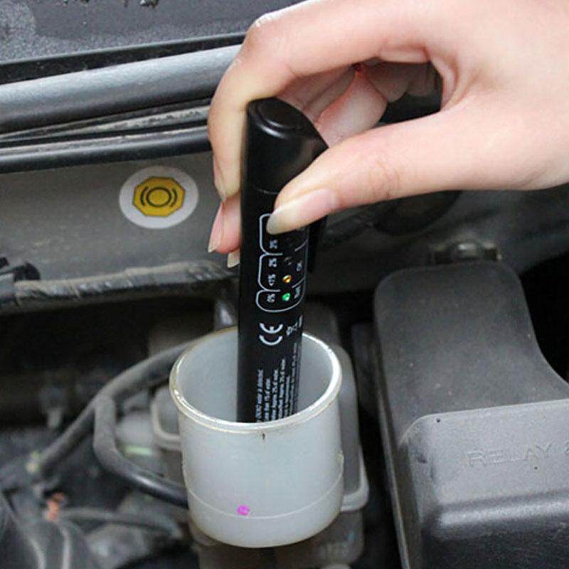 Оптовая тормозная жидкость тестер Pen LED проверка воды автомобиль жидкость тормозное масло обнаружения Pen автомобилей тормозная жидкость детектор тест Pen диагностические инструменты