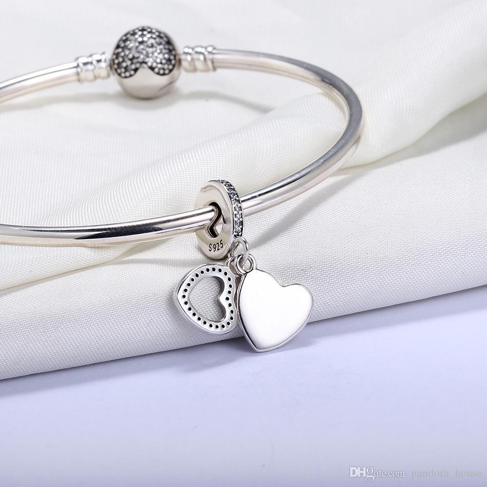 Großhandel 925 sterling silber nicht plattiert Belaube Anhänger Charm European Charms Perlen Fit Pandora Schlange Kette Armband DIY Schmuck