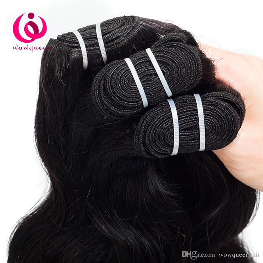 Indian Virgin Human Body Wave Hair Weave Bundles Wow Queen Hair Products No Shedding No Tangle Cheap Price Indian Hair Extensions