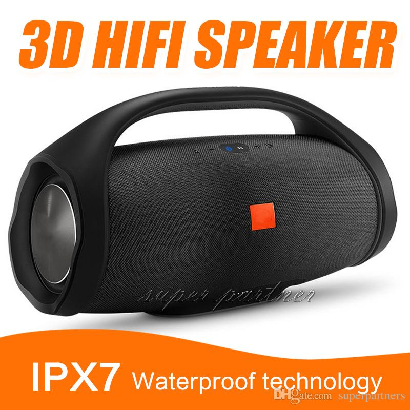 High Quality Boombox Bluetooth Speaker Ipx7 Waterproof Portable Outdoor Subwoofer Speakers HIFI Wireless Music Player With Retail Box
