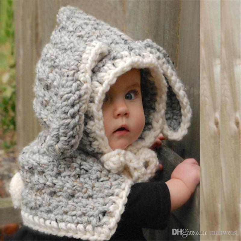 Compre Sombrero Y Bufanda Para Bebé De Invierno Con Crochet De Punto Gorras  Para Bebés 54930b64f17