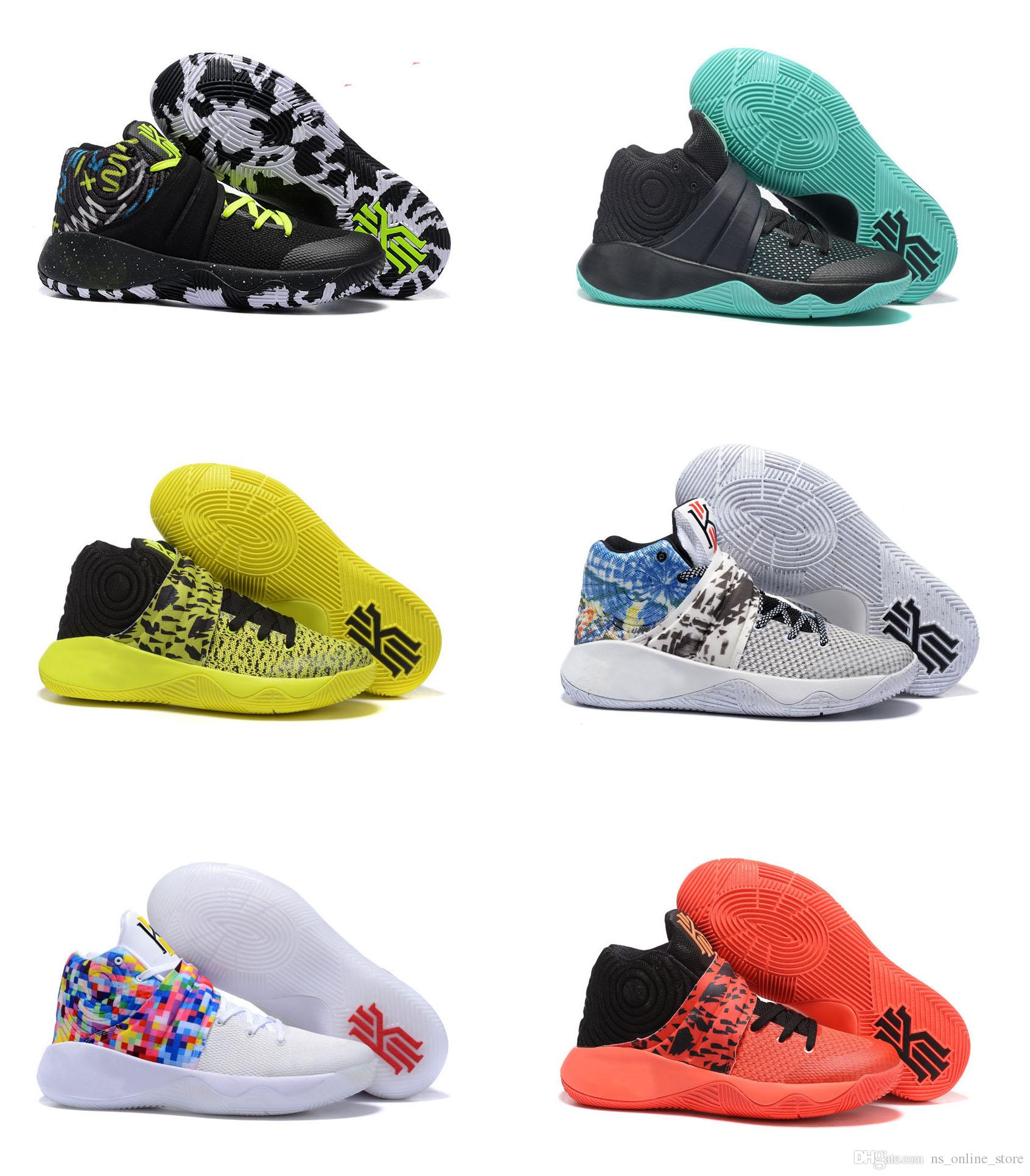 59b606bd6e83 2017 Hot Kyrie Irving Basketball Shoes For Men Kyrie 2 Bright Crimson Tie  Dye BHM All Star Basketball High Quality Outdoor Sports Sneakers Buy Shoes  Online ...