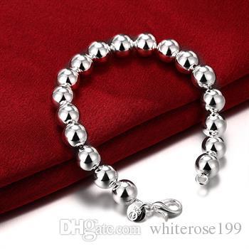 Wholesale -Retail lowest price Christmas 925 silver fashion 10MM Hollow Bracelet h136