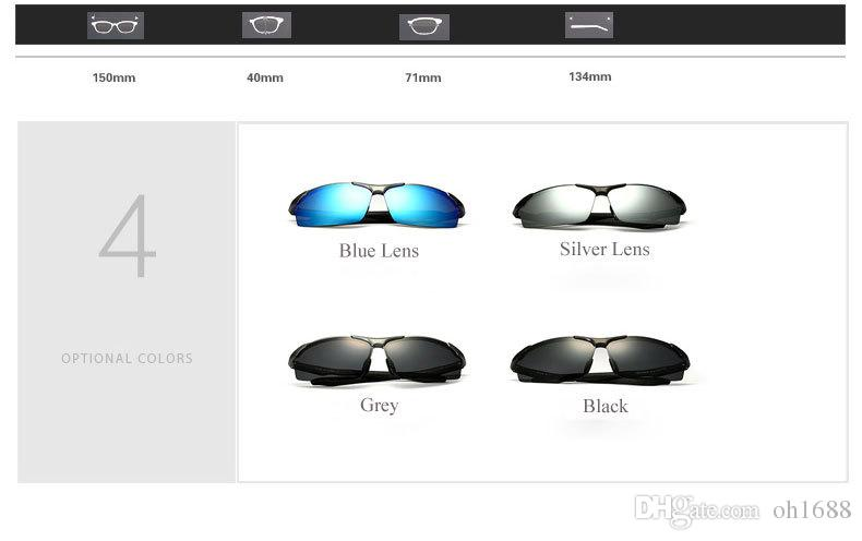 Aluminum Magnesium Brand Polarizerd Mens Sunglasses Sport Sun Glass Driving Mirror Eyewear for Men Male oculos masculino 6576