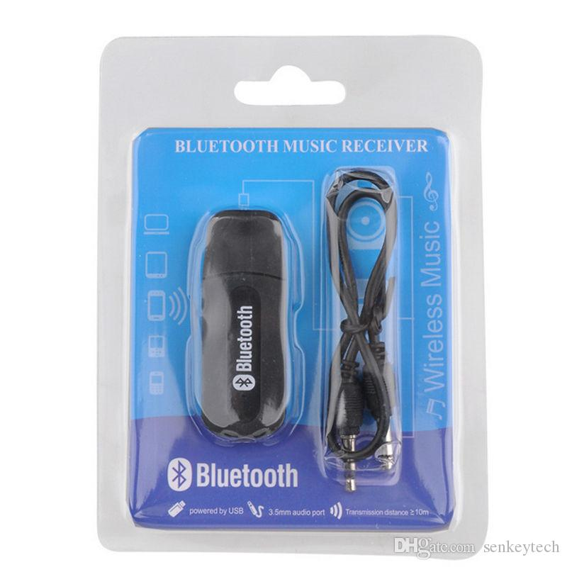 Kaliteli USB Araç Bluetooth Adaptörü Ses Müzik Alıcısı Dongle 3.5mm Port için Otomatik AUX Streaming A2DP Kiti Hoparlör Telefon Kulaklık