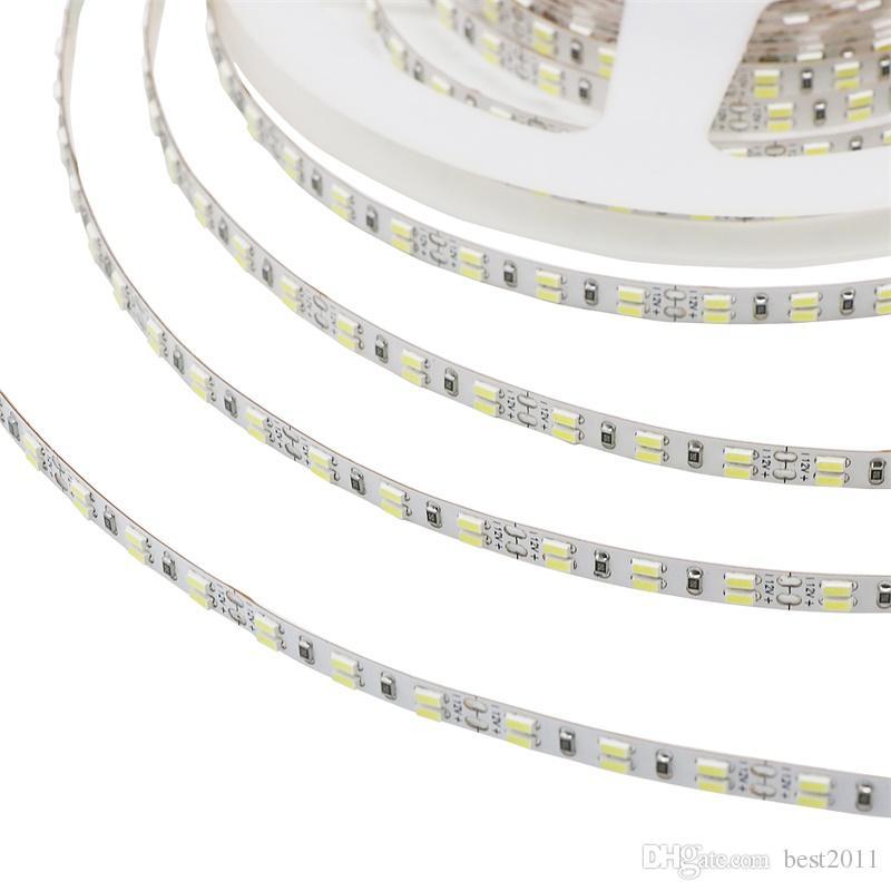 5M / Roll Led Strip 3014 SMD IP20 DC12V 216Leds / M Fita Flexible Ribbon String Led Tape Lamp para vacaciones de Navidad