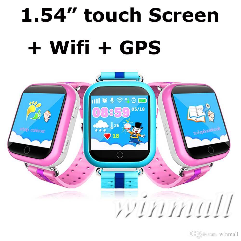 q750 kids smart watch gps wifi lbs monitor locator watch phone 1.54