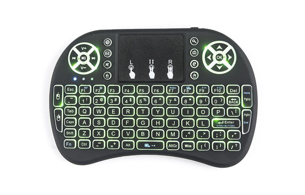 Rii لI8 لوحة المفاتيح اللاسلكية عن بعد الخلفية ماوس الهواء مع لوحة اللمس يده لTV BOX X96 مصغرة TX3