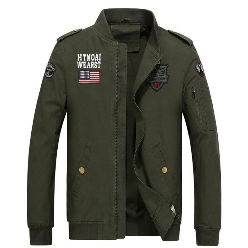 Fashion Military Style Mens Black Cotton Bomber Jacket Hi Street Flight  Jacket Slim Fit Hip Hop Varsity Letterman Jacket For Man Outerwear Mens Top  Jacket ... 6c667da448b
