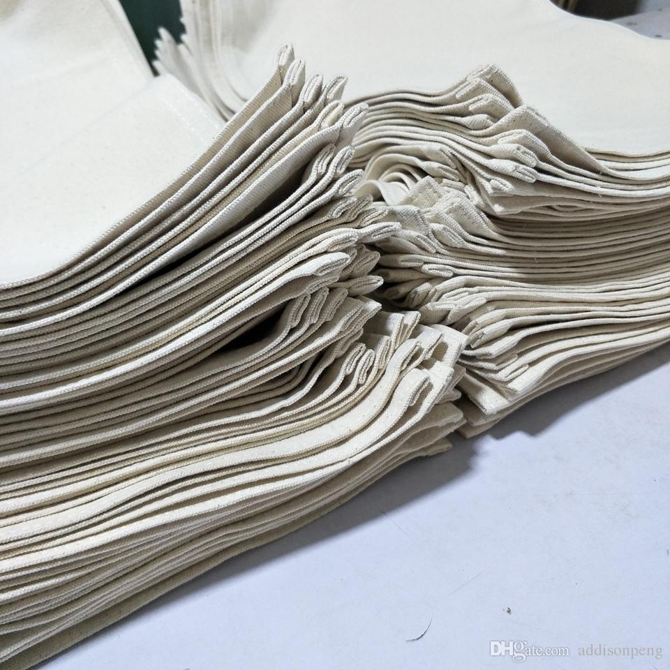 stokta DIY boya / baskı boş tuval masa mat fabrikası için 1 adet doğal 12oz kalın pamuk kanvas placemat 13 * 17in boş pamuk tabak altlığı