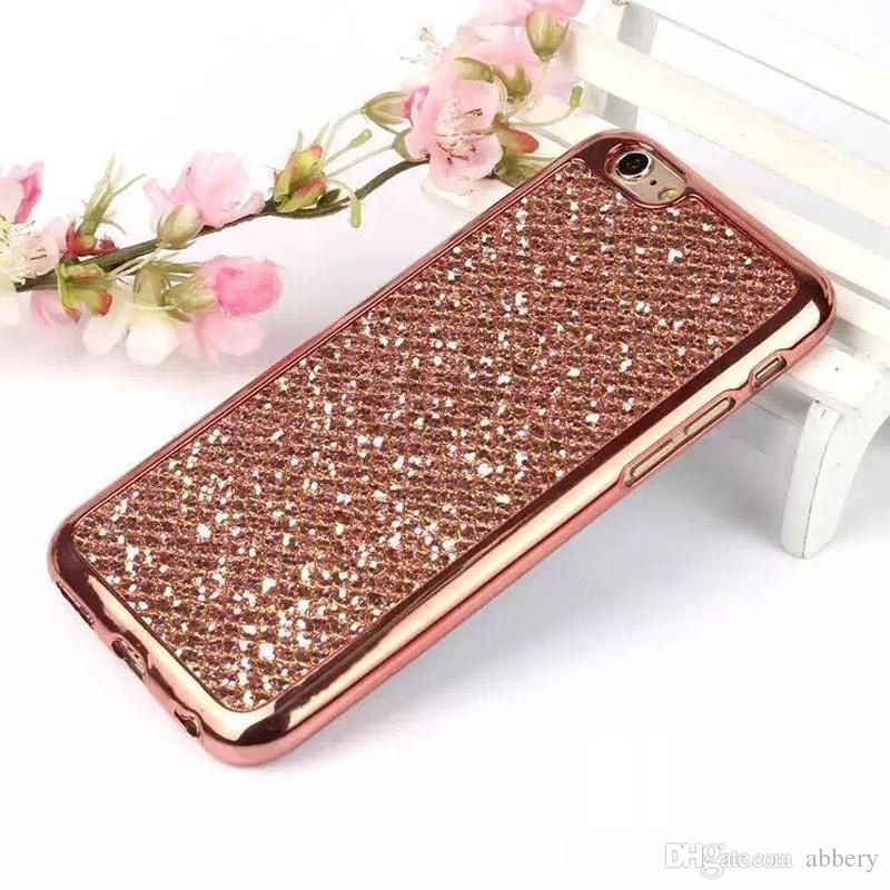 2017 New cell phone cases for iphone 6 6plus samsung bling case cover glittering Soft PC case design for iphone 5 5S 5SE 6S 6Splus 7 7plus