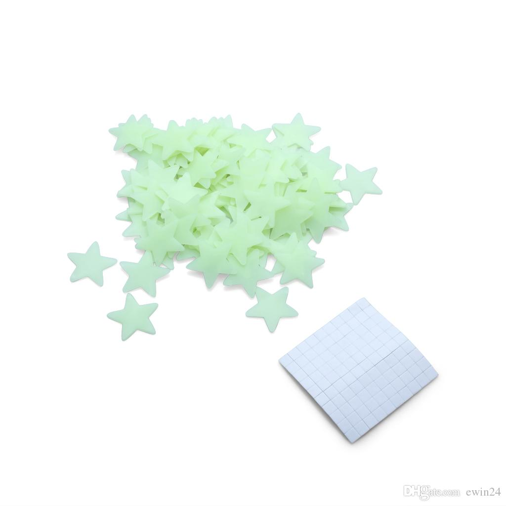 Glow In The Dark Stars Space Stellar Stickers murali Stickers per bambini Camera 100PCS / Set popolare