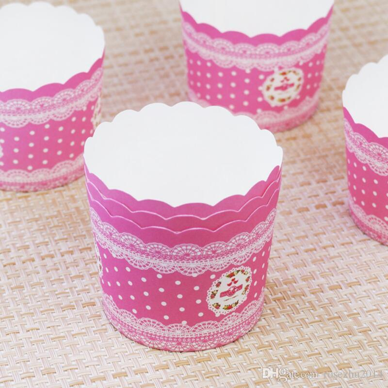 Heart Dot Design Cupcake Wrappers High Temperature Muffin Baking Cups Greaseproof Paper Cupcake Liner