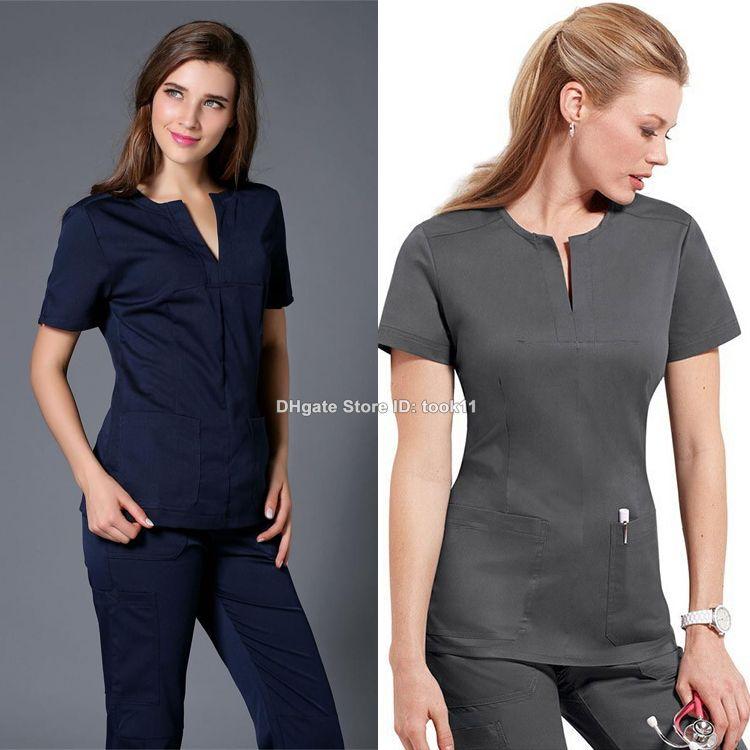 2017 Wholesale Medico Uniformes Hospital Women Medical Clothing Nursing Scrubs Clothes Dental