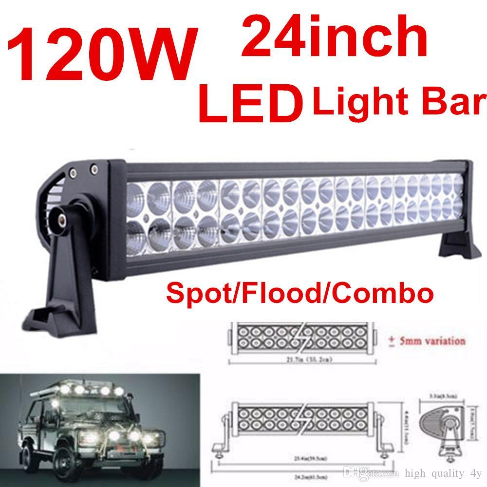 22 Inch 120w Waterproof Car Led Light Bar Flood Spot Combo Beam Work ...