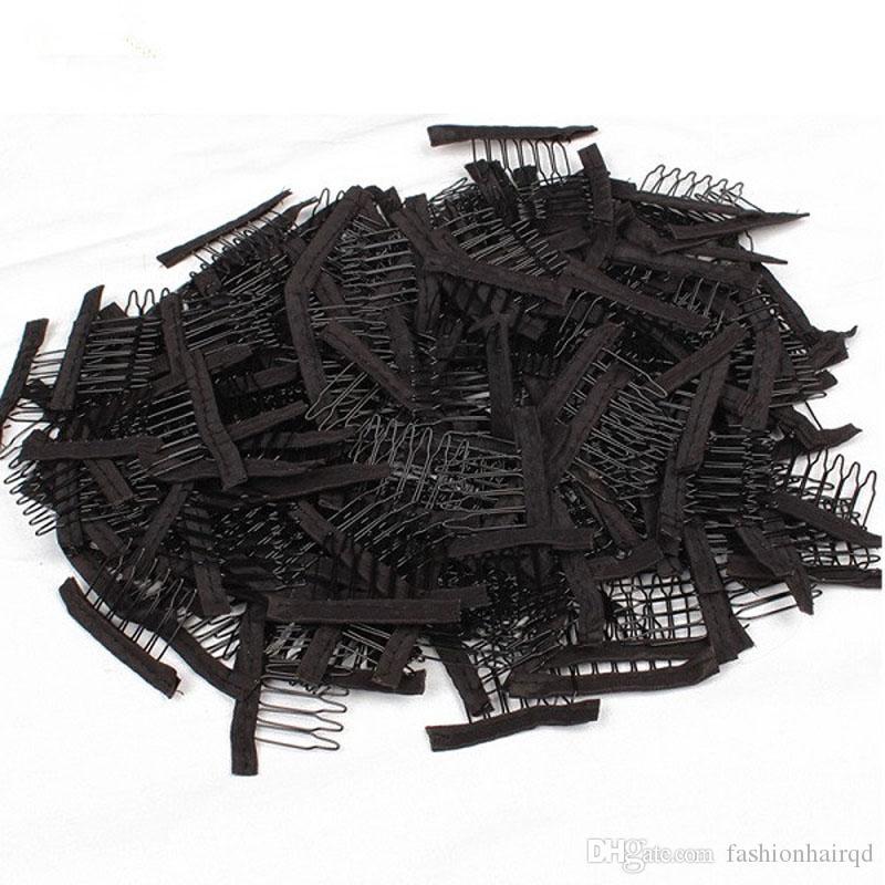 Preto Marrom Peruca Combs Para Fazer Perucas 6 Dentes Grampos de Cabelo Em Aço Inoxidável Pentes de Cabelo Profissional Acessórios Ferramentas DHL Frete Grátis