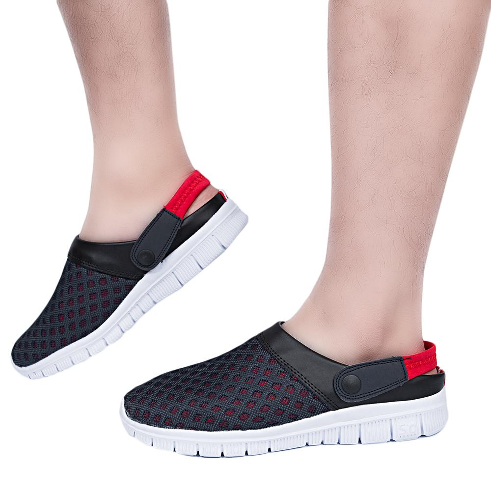 c3b91592684c44 Wholesale Men Summer Casual Garden Shoes Breathable Mesh Clogs Beach Slippers  Clogs Models Hole Mules Shoes Garden Slides Flat Slippers Wedge Booties ...