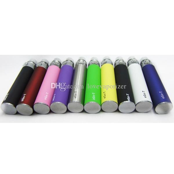E Cigarettes Ego T Battery 650mah 900mah 1100mah For Ce4 Atomizer Evod Mt3 510 Thread Vaporizer Cheap E Cig Ego Battery Vape pen DHL free