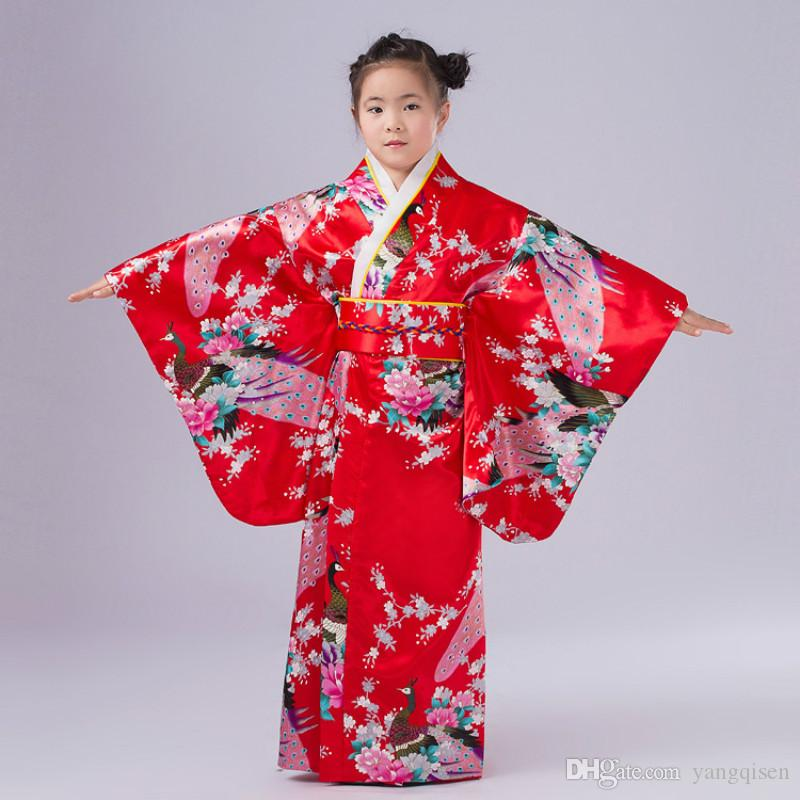 New Child Novelty Cosplay Floaral Dress Japanese Baby Girl Kimono Dress Children Vintage Yukata Kid Girl Dance Costumes Groups Of 5 Halloween Costumes ...  sc 1 st  DHgate.com & New Child Novelty Cosplay Floaral Dress Japanese Baby Girl Kimono ...